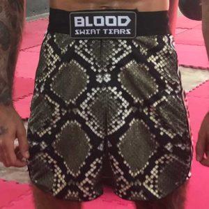Snake skin MMA shorts