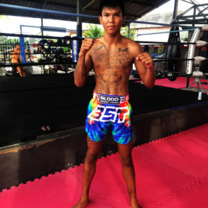 BST Muay Thai shorts tie dye